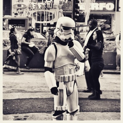 New York photography of stormtrooper