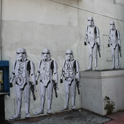 Stormtroopers wallpainting