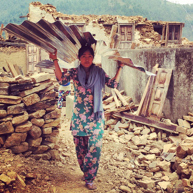 Photography of earthquake consequences in Nepal