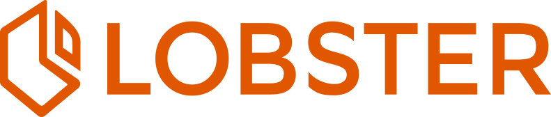Lobster logo horizontal (orange)